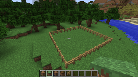 Making a fenced area
