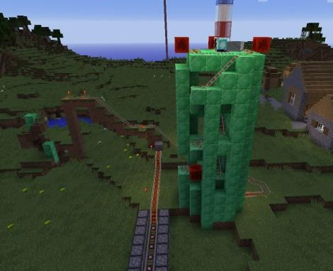 Roller Coaster in Minecraft