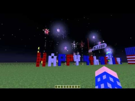 4th of July Minecraft Fireworks