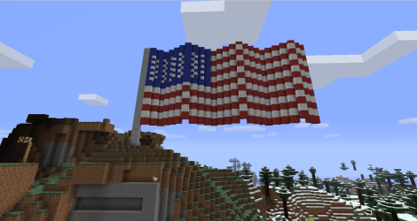 American Flag in Minecraft