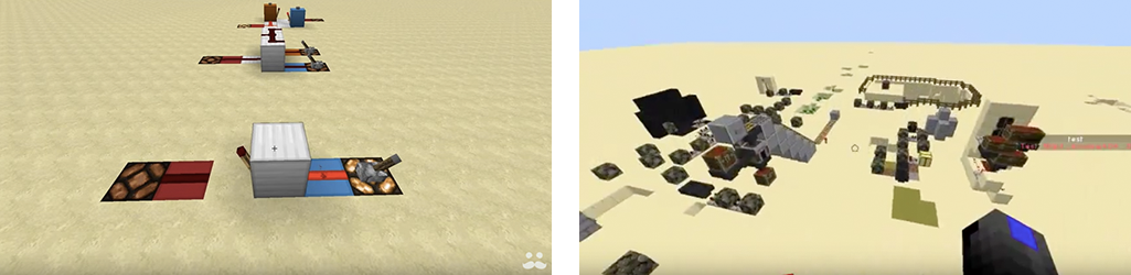 Logic and Engineering in Minecraft